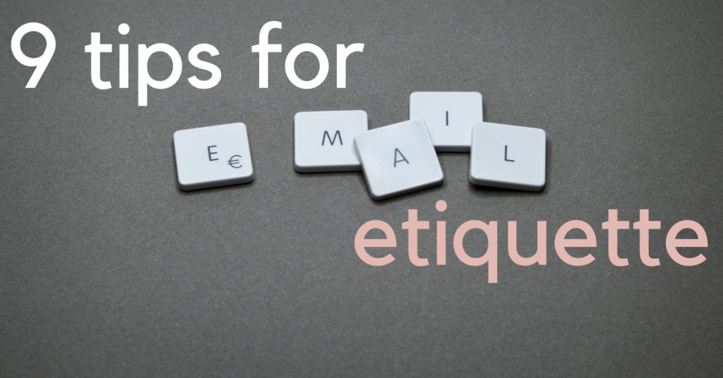 tips for email etquette