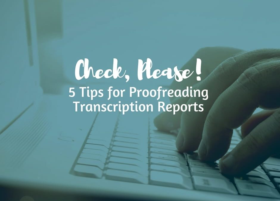 Proofreading with a checklist