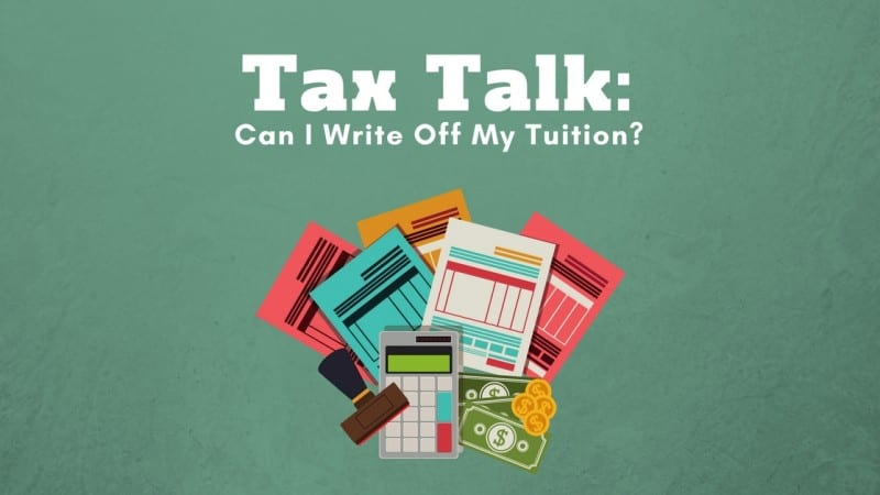 Tax forms and a calculator