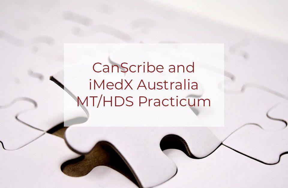 canscribe and imedx australia practicum
