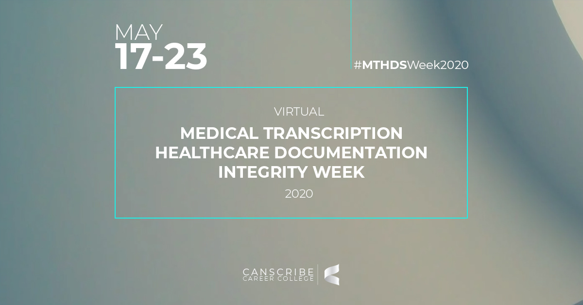 Medical Transcription Healthcare Documentation Integrity Week 2020