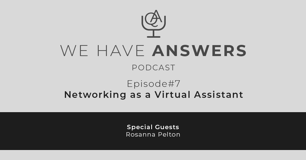 Networking as a Virtual Assistant
